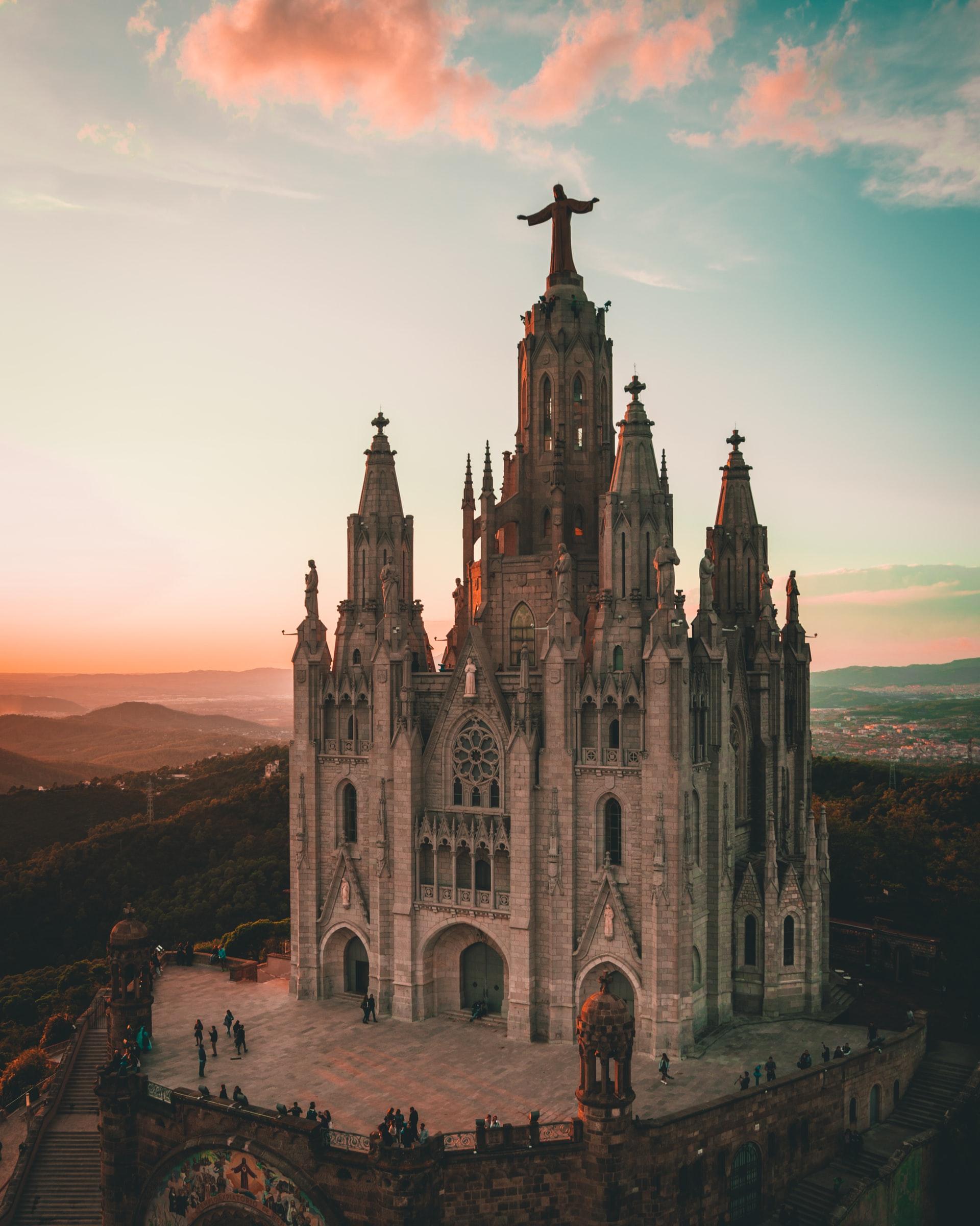 Tibidabo church, Barcelona, Spain