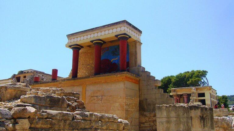 Knossos Palace Crete Greece