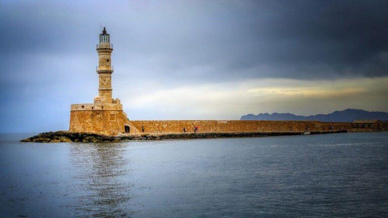 Chania Seawall Greece