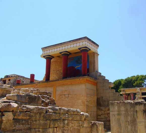 Knossos ruins at Crete