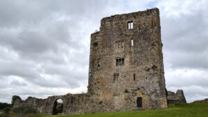 Old Castle Grannagh on cloudy day