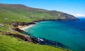 irish coast on a sunny day