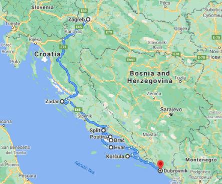 Complete Croatia Map